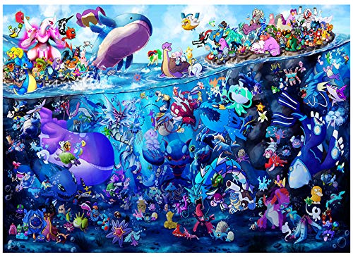 Anime Poster Pokemon Puzzle Toy - Jigsaw Puzzles 1000,with Pokemon Poster and 1000 Piece Puzzle,Adult and Child Interaction 1000 Piece Puzzles