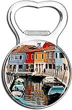 Weekino Italie /Île de Verre de Murano Aimant de r/éfrig/érateur 3D Verre Cristal Touristique Ville Voyage Souvenir Autocollant de r/éfrig/érateur Collection