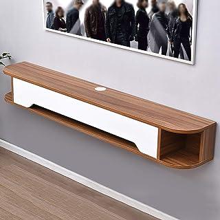 Los estantes flotantes Estantería de caja nórdica, estante flotante TV Montado en pared Estantes modernos de TV Moderno Mi...
