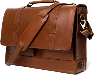 """Full Grain Leather Messenger Bag for Men 