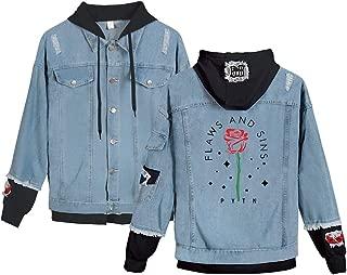 Landove Payton Moormeier Hoodie Unisex Demin Jeans Jacket A31118NZ01
