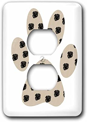 3drose Lsp 123328 6 Dalmation Spots Paw Print Dogs Animals Light Switch Cover Electrical Outlet Covers Amazon Com