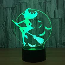 KLJLFJK 7 Color Change Witch 3D LED Night Light lamp Lamps Touch Switch Table lamp for Children
