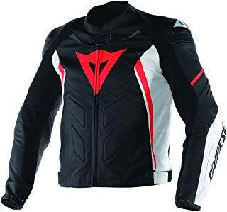 Dainese Avro D1 Leather Jacket White/Black/Red (50 Euro/US 40)