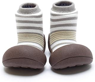 Attipas Best First Walker Shoes Baby Cotton Socks Shoes Non Toxic Safe Great Baby Registry Gifts (US Toddler 4.5, Organic ...