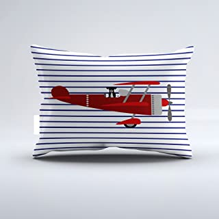 Christ-EZ Striped Dog in Airplane Pillowcase Pillow Case Cushion Cover Home Sofa Decorative One-Side 12x20 Inch
