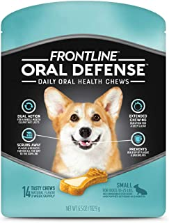 Frontline Oral Defense Daily Dental Chews for Small Dogs