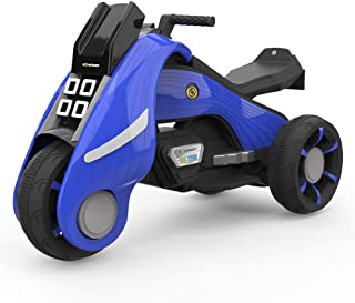 HOVER HEART Ride-On Toy 6V/4.5Ah Front LED 3 Wheels Motorcycle Tricycle for Kids