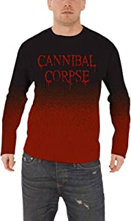 Cannibal Corpse Jumper Sweater Dripping Band Logo Official Mens Dip Dye