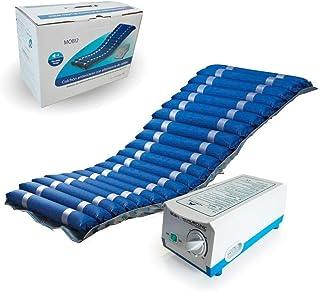 Anti-decubitus matras Deluxe, Wisselende cellen en compressor,met pomp, nylon en medisch vuurvast PVC, Blauw, Mobi 2, Mobi...