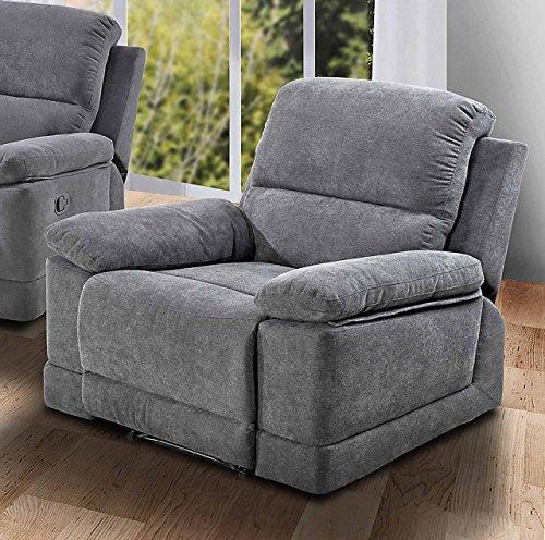 lifestyle4living Sessel in Grauer Microfaser bezogen mit praktischer Relaxfunktion, Verstellbarer Fernsehsessel mit manueller Starthilfe zum relaxen und genießen