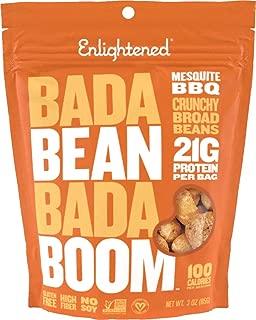 Enlightened Bada Bean Bada Boom Plant Protein Crunchy Broad Beans Snacks, Mesquite BBQ, 3 Ounce (6 Ct)