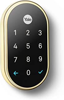 Google, RB-YRD540-WV-605, Nest x Yale Lock with Nest Connect, Smart Lock, Polished Brass