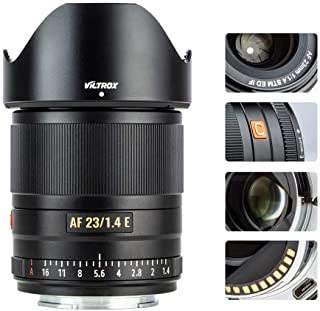 VILTROX 23mm f/1.4 Auto Focus E-Mount Lens for Sony,Wide Angle Large Aperture APS-C Lens for Sony E-Mount Cameras A6500 A6...