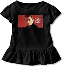 TIANBA Personalized Pretty Tee Shirt Johnny Cash Birthday Bash Cool Underdress T-Shirt for Girl Child