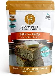 Good Dee's Corn Bread Baking Mix - Grain Free, Sugar Free, Gluten Free, Wheat Free, and Low Carb,7.5 Oz