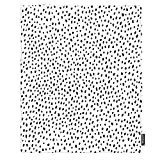 AOYEGO Polka Dot Throw Blanket Scattered Black and White Chaotic Spot Classic Blankets Decorative Modern Lightweight 30X40 Inch Flannel for Kitten Pets Dogs Women Men