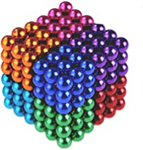 HAWGON Magnetic Balls 5 mm 432 Pcs Multicolor Magnet Ball Cube Fidget Gadget Toys Rare Earth Magnet Office Desk Toy Games Multicolor Beads Stress Relief Toys for Adults Rainbow Color