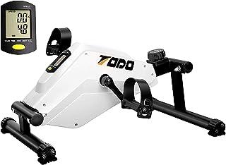 FITODO Ejercicio Magnético Bicicleta Estática Ejercitador de Pedal Liso y Silencioso con Monitor LCD Multifuncional