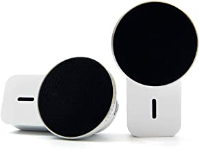 Ampulla MiniS Magnetic Speakers - 360° Sound TWS Portable Bluetooth Speakers with Built-in Magnets Can be Attached to Any Surface, Built-in Mic, Music Anywhere, Anytime.