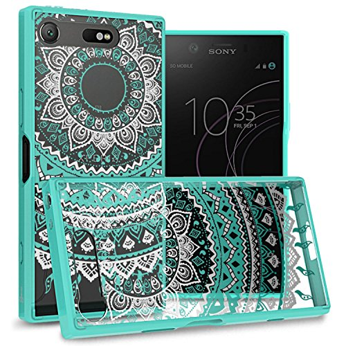 CoverON Hard Slim Fit ClearGuard Series for Sony Xperia XZ1 Compact Case, Teal Mandala Design