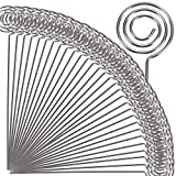 H&W 50pcs 4.7''L Ring Loop Round Shape DIY Craft Wire Clip Table Card Holders Note Photo Picture Memo Holder Metal Clamp for Party Birthday Office DIY Cake Topper(WE5-D1)