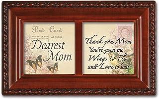 Cottage Garden Petite Music Box - Dearest Mom Plays Wind Beneath My Wings With Woodgrain Finish