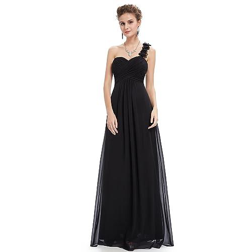 05e60e42588 Ever-Pretty Flower One Shoulder Empire Waist Floor Length Bridesmaids Dress  09768