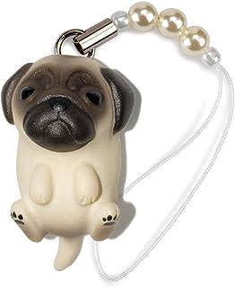 ペットラバーズ 犬種 Dog 92 Pug パグ 薄フォーン ビーズ ストラップ DN-1002