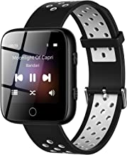 """TIMMKOO Watch Mp3 Player with Bluetooth, 1.5"""" IP65 Waterproof Touch Screen Mp3 Player Watch with Pedometer, 32GB Wearable ... photo"""