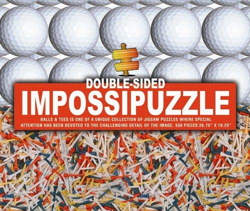 Impossipuzzle Double Face – 550 pièces – balles de Golf et Tees