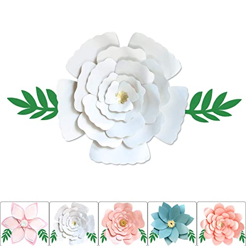 d02a36be2cd ONE PHOENIX DIY Pearl Cardstock Crafts Handmade Paper Flowers Decorations  for Baby Room Wall Decor