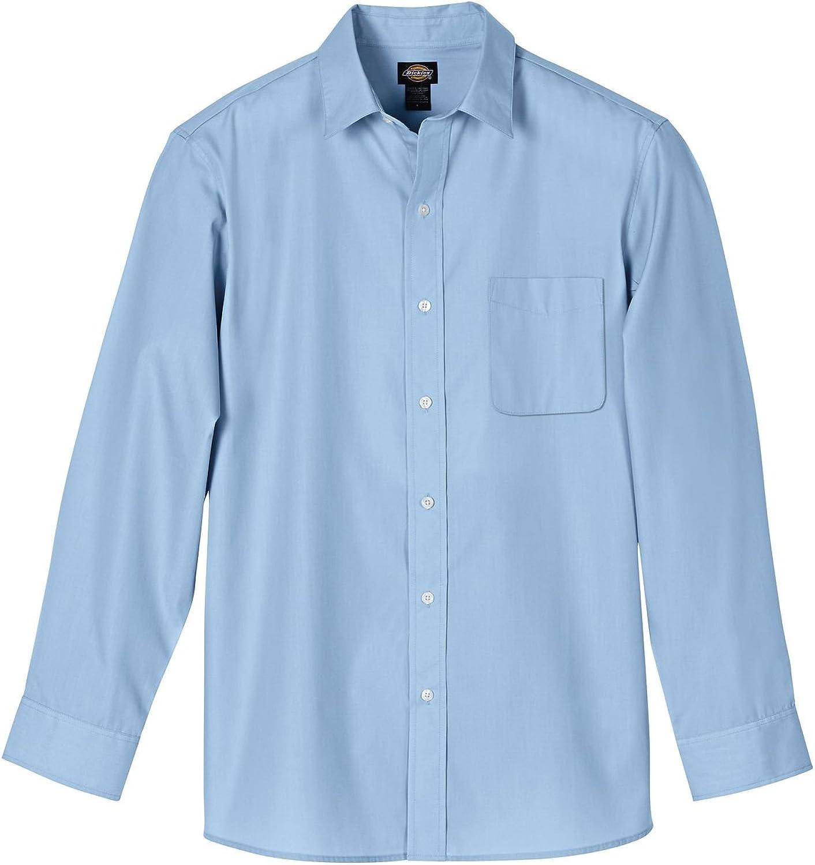 Dickies Men's Long Sleeve Executive Dress Shirt, Executive Light Blue, XL