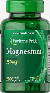 Puritan's Pride Magnesium 250mg, Caplets, 200ct