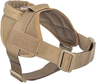 yisibo Tactical Service Dog Harness No-Pull Nylon K9 Military Training Patrol Dog Vest with
