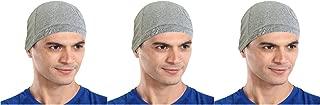 The Blazze Cotton Helmet Cap (Free Size, Grey+Grey+Grey)