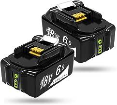 Ybang マキタ 18v バッテリー 6.0ah BL1860 マキタ 18v 互換バッテリー 6000mAh大容量 リチウムイオン 互換 BL1815、BL1830、BL1840、BL1850、BL1862 リチウムイオン バッテリー 電動工具専用 【1年保証】 2点