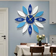 Wall Clock Living Room Wall Clock Watch Creative Minimalist Wooden Clock Home Decoration Electronic Clock (45 * 45CM) LJJC...