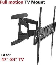 Fleximounts A21 47-84 inch Big TV Wall Mount Bracket Full Motion Swivel Tilt Flat Screens, up to 90 inch