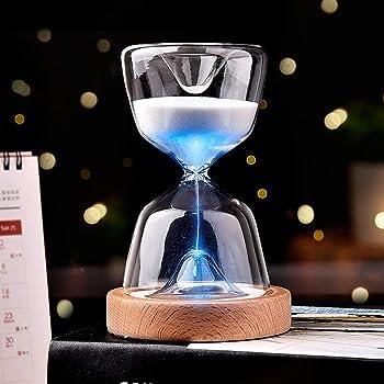 HORICH 砂時計ライト LED 15分計 インテリア 間接照明 USB充電式 12色切替 リモコン付き プレゼント 人気 誕生日プレゼント