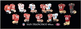 Winning Streak NFL San Francisco 49ers Unisex San Francisco 49ers Legacy Uniform PlaqueSan Francisco 49ers Legacy Uniform Plaque, Black, Plaque
