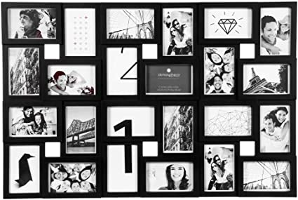 Cadre Photo Pele Mele Mural Coloris Noir Capacite 24 Photos Amazon Fr Cuisine Maison