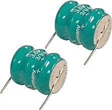 2x Varta 3/V80H 2 Pin 3.6V 80mAh NiMH Battery 55608303015 For circuit boards, memory safeguard, Backup Power, measuring equipment, memory backup, real time clocks, lighting, industrial timepieces