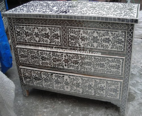 Fantastic Prices! Luxury Handicrafts Chest of Four Drawers with Glass Work