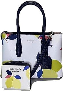 Kate Spade Eva Small Top Zip Satchel bundled with Small Zip Bifold Wallet (Lemon Zest)
