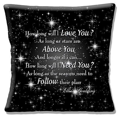 Ellie Goulding ' Wie lang wird I Love You ?' Lieder Texte auf schwarz - 16