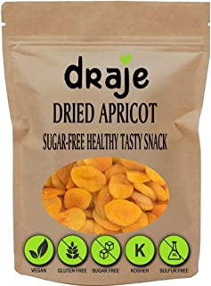 Dried Apricots No Sugar Added, Dried Fruits Bulk Turkish Snacks, GMO Free Kosher Unsweetened Dehydrated Whole Pitted Raw F...