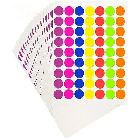 1000 orange autocollants 25 mm Dia Couleur Rond Auto Adhésif étiquettes Sticky Dots