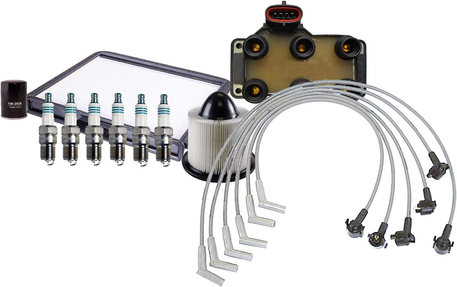 Ignition Tune Up 6 Iridium Power Compati Limited time trial price Sale Special Price Set Wire Spark Plug kit