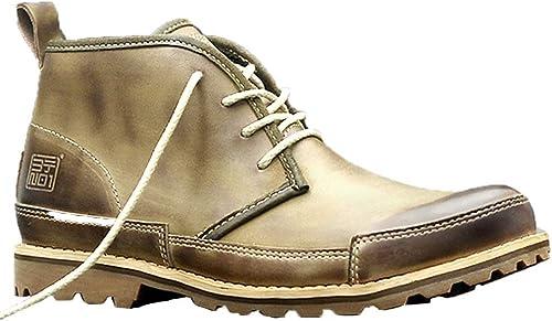 ZHRUI botas Chukka de Cuero Genuino para hombres botas Transpirables duraderas y Antideslizantes duraderas (Color   amarillo, tamaño   EU 41)
